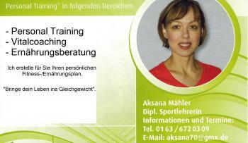 Personal Trainer – Aksana Mähler